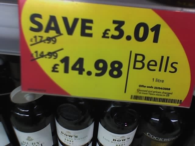 tesco penny off litre of Bells