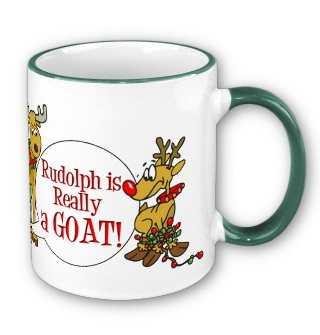 funny goat christmas mug
