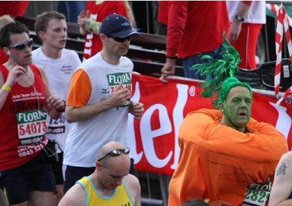 carrot london marathon costume